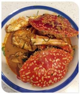"""Ketam Bunga (""""Flower Crab"""" or """"Sea Crab"""")    吉胆花蟹 或 海蟹 Kari Ketam Bunga"""